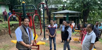 Chief Minister Conrad Sangma inaugurated the outdoor gym in Tura