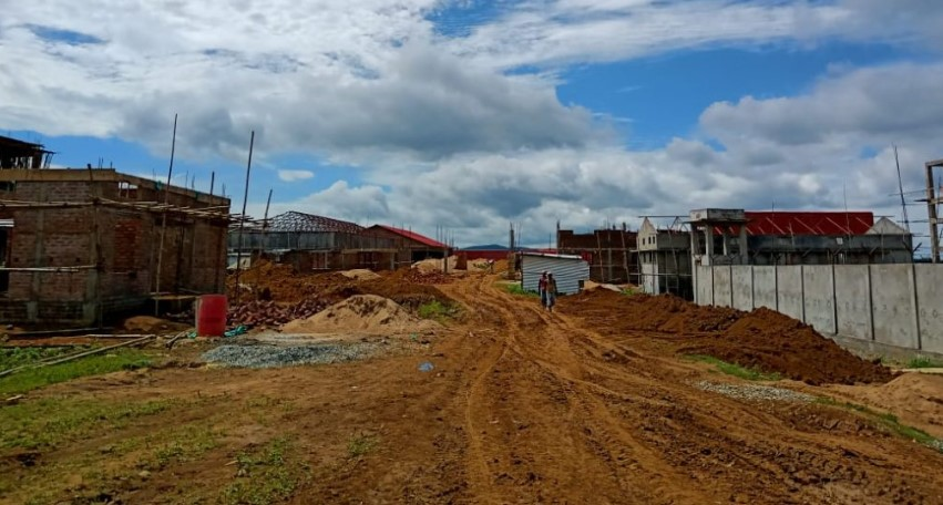 A snapshot of the new detention centre coming up in Goalpara, Assam. Photo: Time8